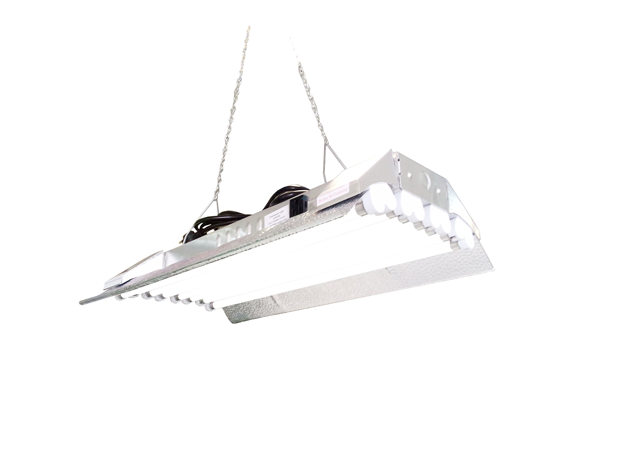 T5 HO Grow Light - 2 FT 8 Lamps - DL828S Fluorescent Hydroponic Indoor Fixture Bloom Veg Daisy Chain with Bulb by DuroLux (Image #1)