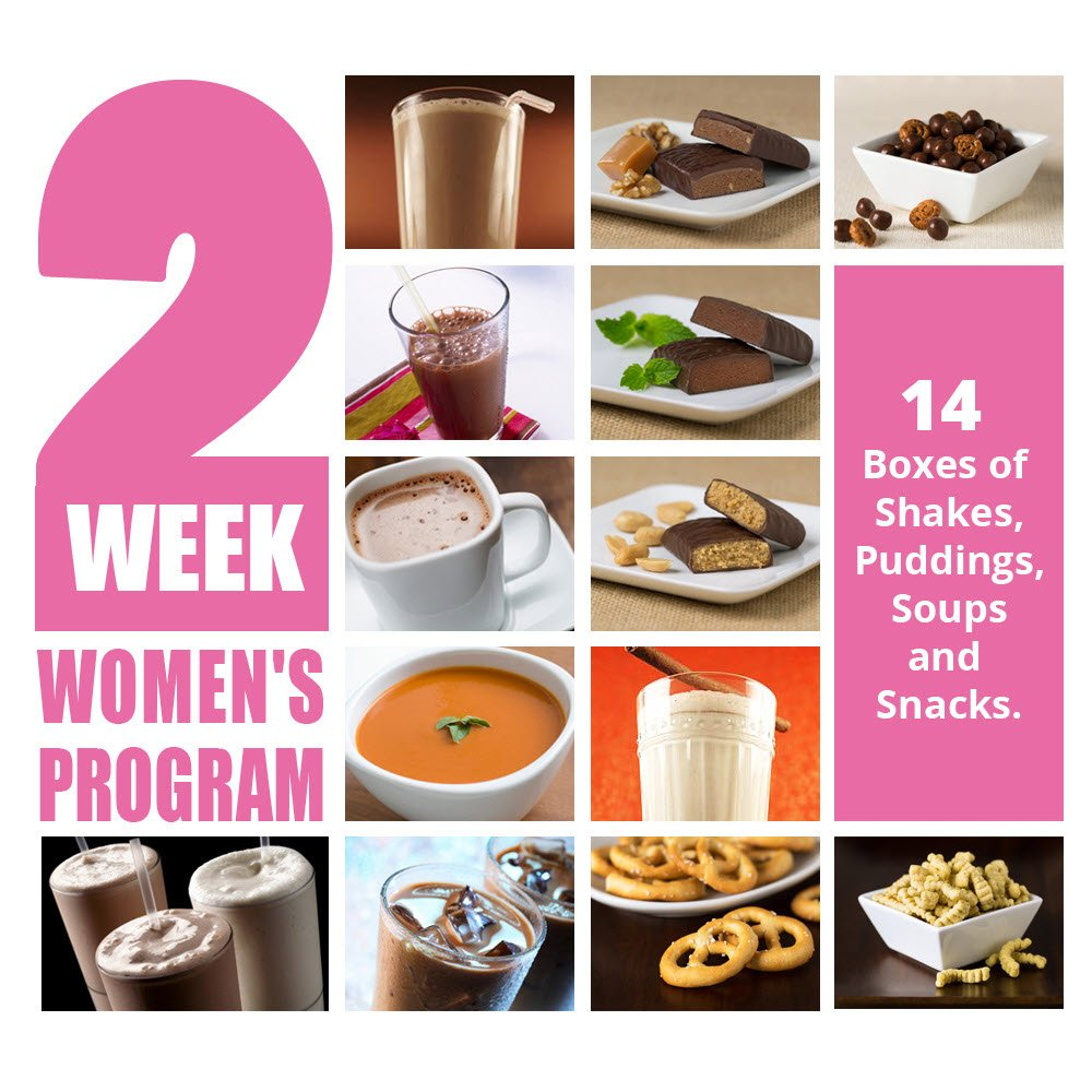 2 Week Women's Weight Loss Program - Healthy Meal Replacement Weight Loss & Healthy Living