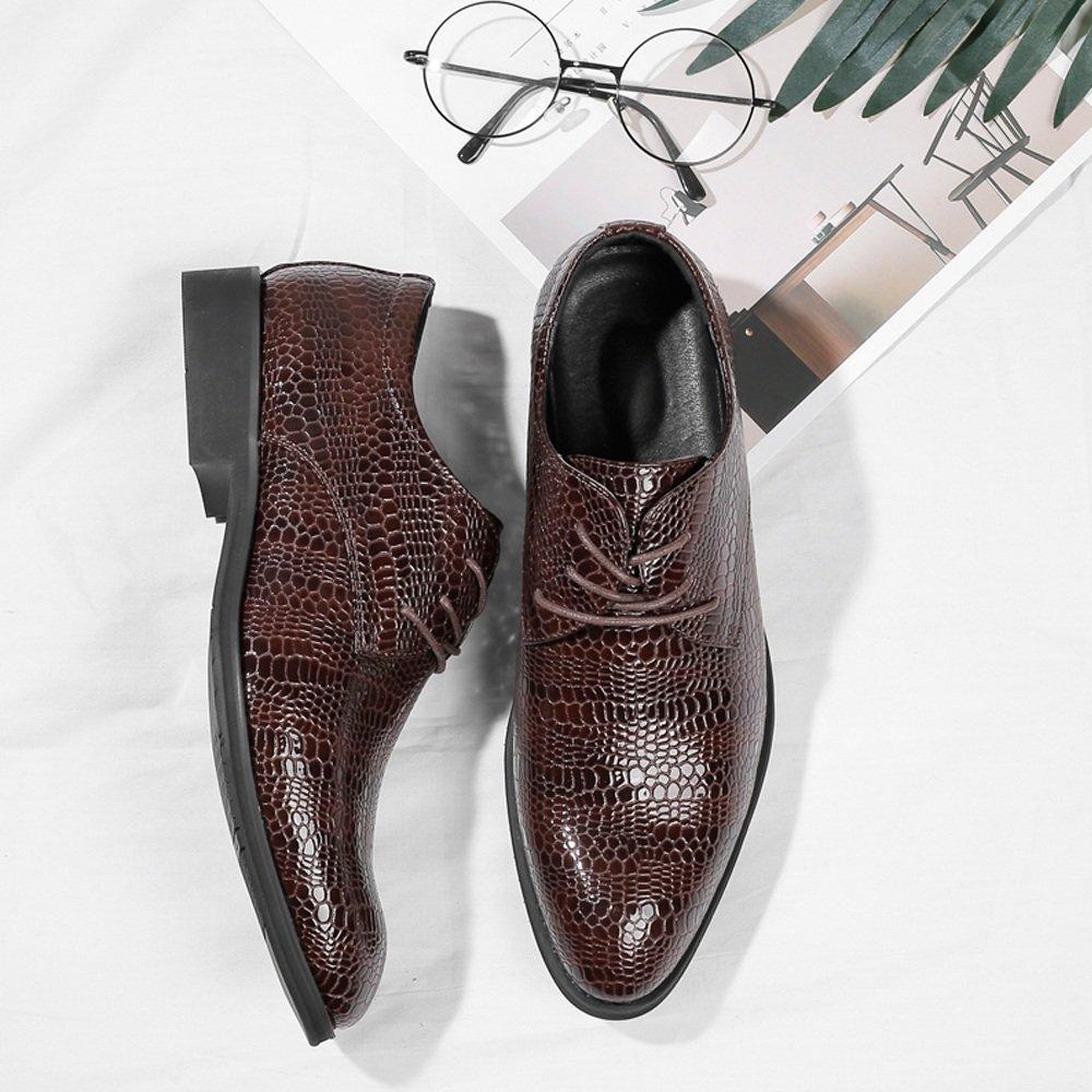 SCSY-Oxford-Schuhe Herrenmode PU-Lederschuhe Krokodilhautbeschaffenheit Obere Obere Obere Schnürung Atmungsaktiv Business Gefütterte Oxfords  a6e90f