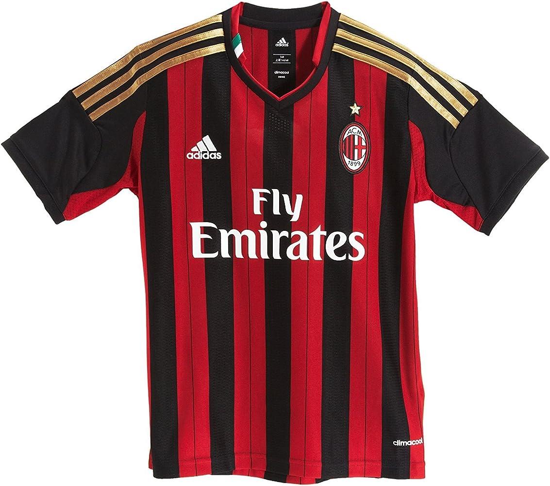 Ac Milan Home Jersey Youth 2013 2014 Ys Red Black Sports Fan Jerseys Clothing Amazon Com