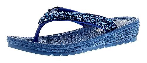 Damen Stil Keilabsatz Sandale Feet Heavenly Tanga Zehentrenner HED9W2IY