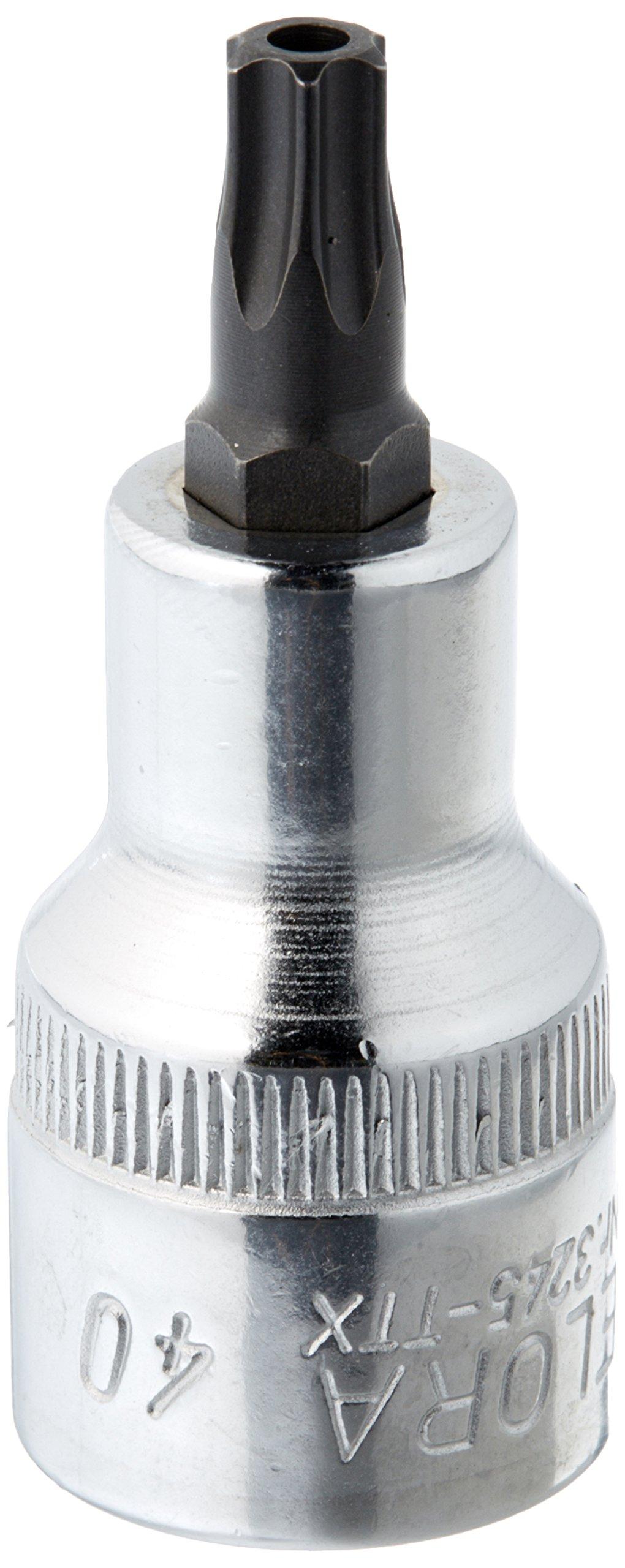 Elora 3245020401000 Screwdriver socket 1/2'' for TORX safety screws Size 40