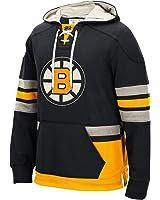 "Boston Bruins Men's NHL CCM ""Lace Em Up"" Pullover Hooded Sweatshirt - Black"