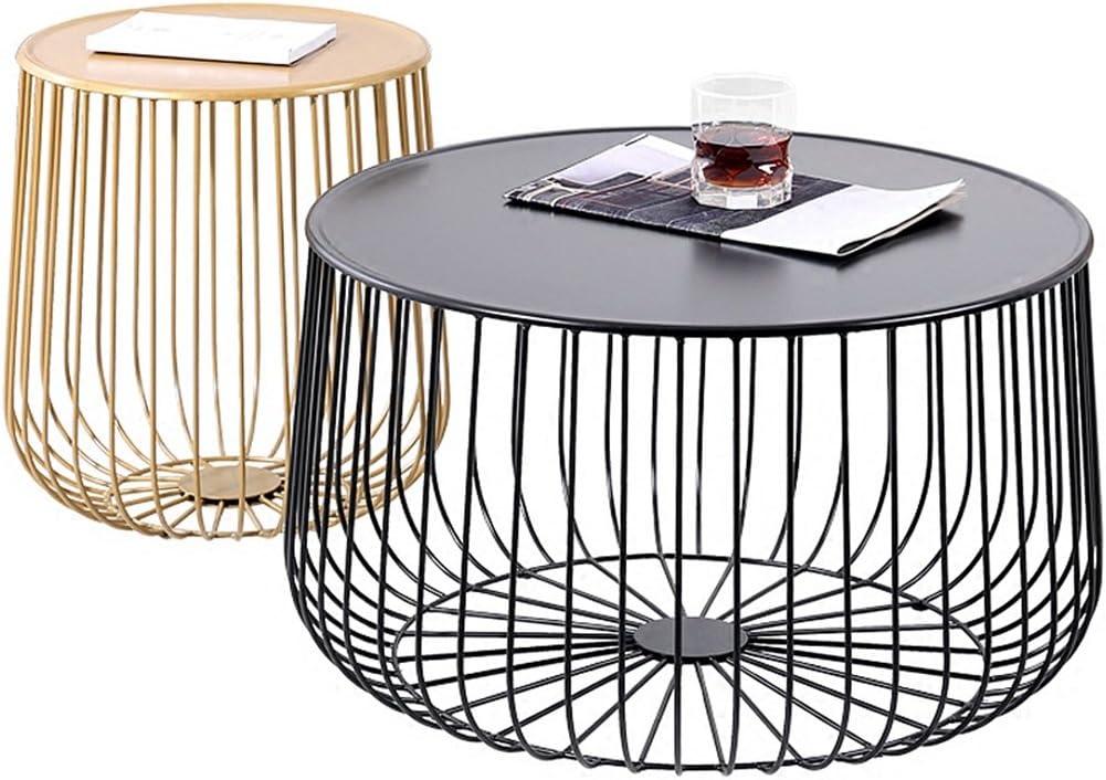 Amazon Com Cigong Nordic Coffee Table Simple Round Black Wrought