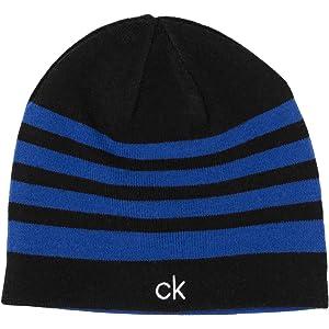 7fb41544 Calvin Klein Golf Mens 2018 Logo Beanie Hat - Black/Orange - One ...
