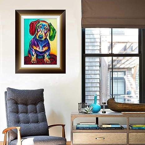 DIY 5D Diamond Painting Dog House Maple feilin Diamond Embroidery Rhinestone Painting Cross Stitch Kit Wall Art Decor 5D Diamond Painting by Number Kits Home Decor 40x30cm