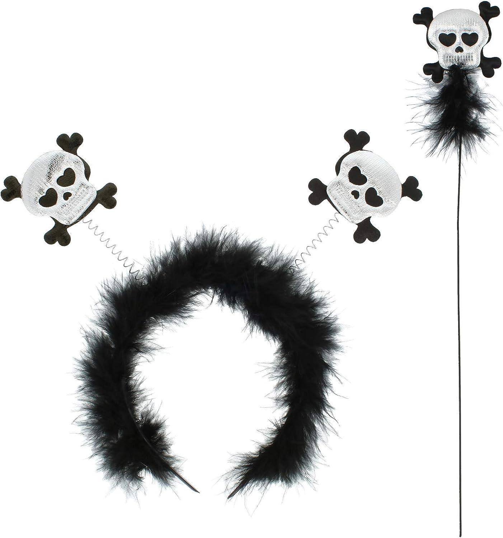 accessori in costume per Halloween cerchietto in diverse varianti com-four/® Diadem Halloween- /& Fasching hairband carnevale e feste a tema.