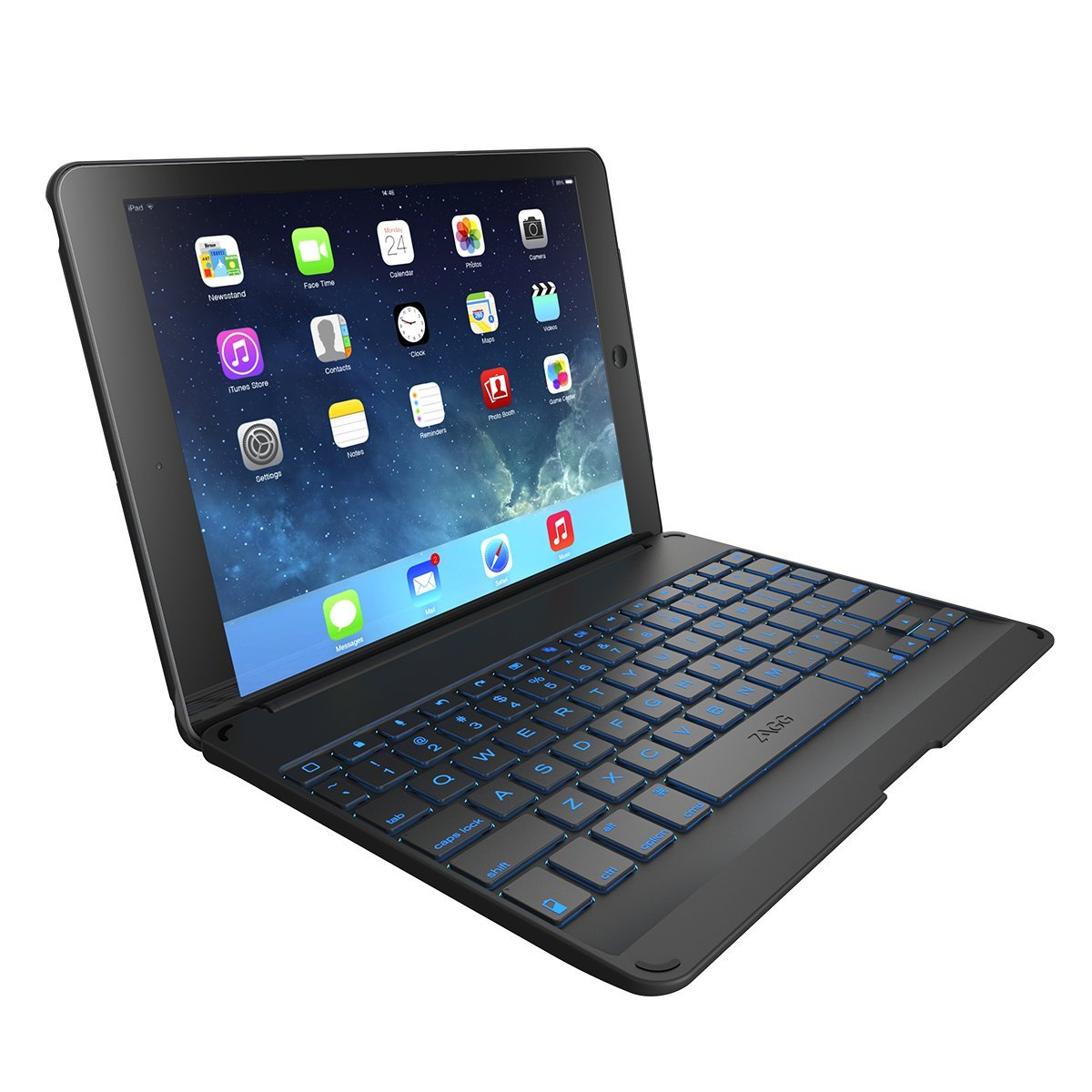Brand New Zagg Folio Case With Backlit Bluetooth Keyboard
