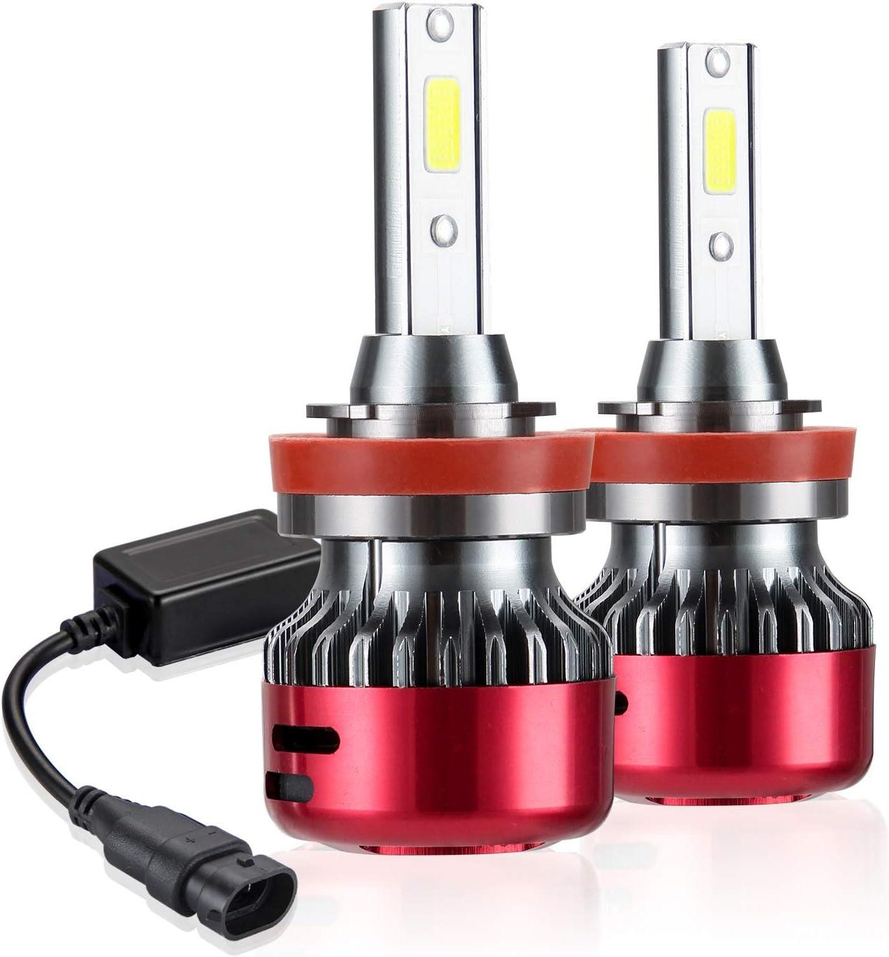 Kairiyard H4 Led Voiture Ampoules Led Phares /à LED H4 6000K HI LO Beam 55W 8000LM LED Antibrouillard Kit DOB Chip Extr/êmement Lumineux Rotation /à 360/° Bi-X/énon Conversion Tout-en-Un Garantie 2 Ans