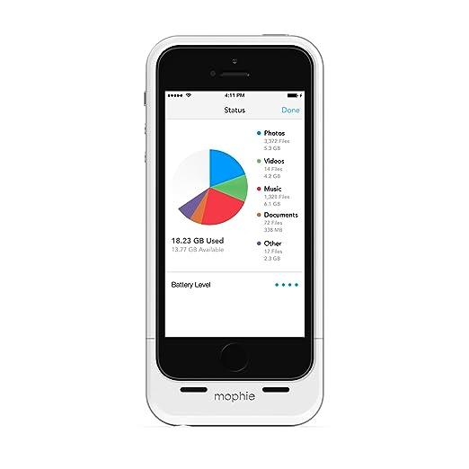 52 opinioni per Mophie Custodie per iPhone 5/5S con Memoria Ausiliare da 32 GB, Bianco