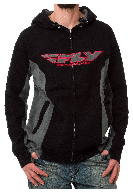 Fly Racing Zip-Hoody Standard schwarz Grau