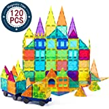 cossy Kids Magnet Toys Magnet Building Tiles, 120 Pcs 3D Magnetic Building Blocks Set, Educational Toys for Kids…