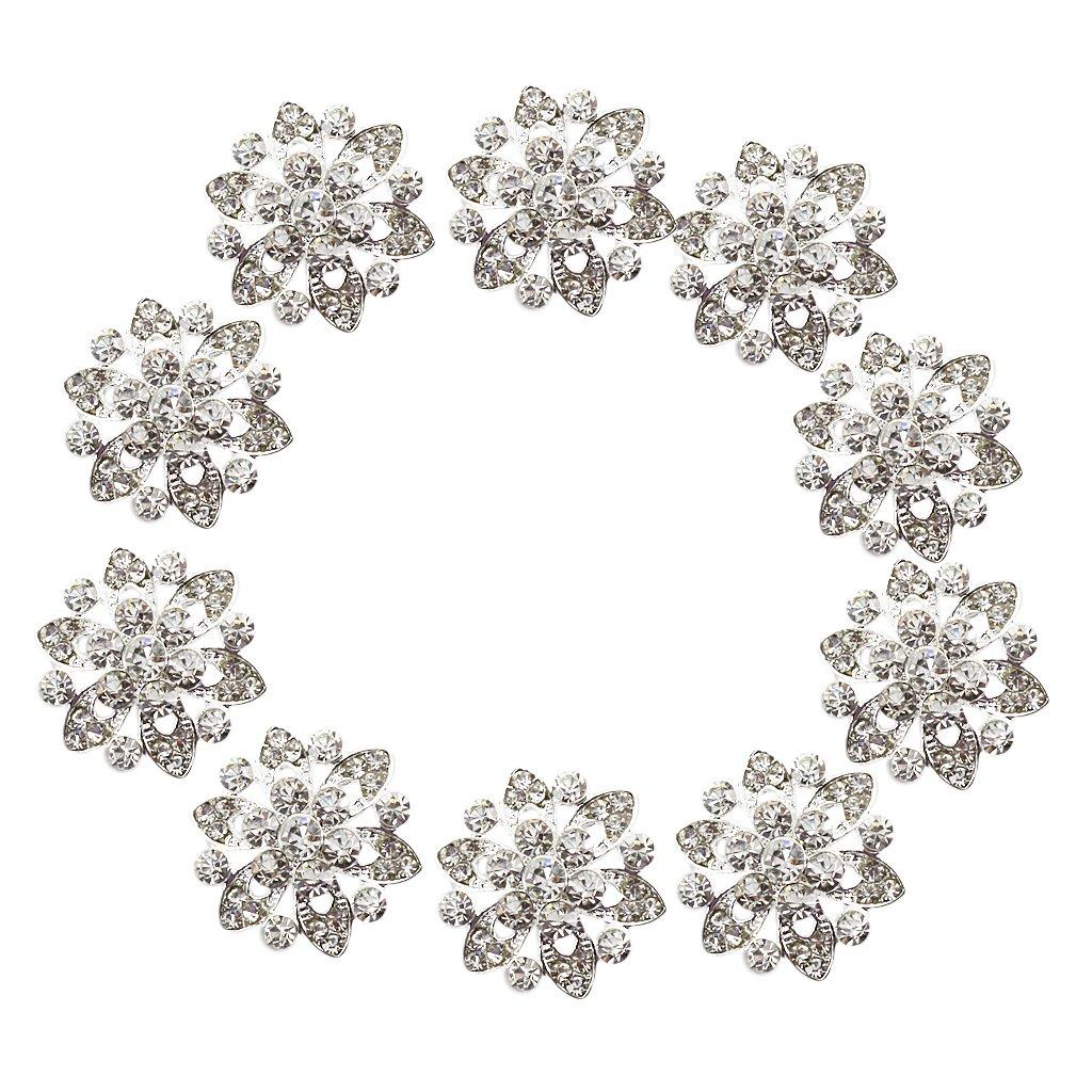 Cucire Bottoni Phenovo Strass Fiore Mestieri Di DIY 22 Millimetri 10pcs Generico AEQW-WER-AW131877