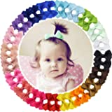 """40pieces 2"""" Grosgrain Ribbon Tiny Hair Bows Clips Fully Lined Hair Clips Hair Accessories for Baby Gilrs Toddlers Kids Infants"""