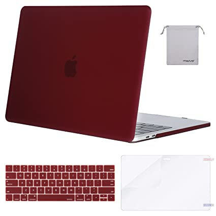 pretty nice b4cbe 73dd8 MOSISO MacBook Pro 15 inch Case 2019 2018 2017 2016 Release A1990 A1707,  Plastic Hard Shell & Keyboard Cover & Screen Protector & Storage Bag ...