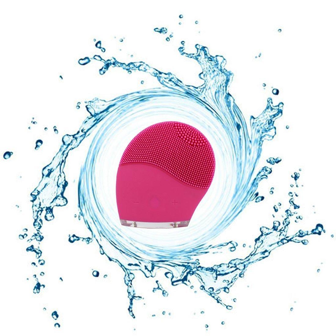 WEMINC silicona cepillo de limpieza cara limpiador Facial, de profundidad Vibrador impermeable Sistema de limpieza facial para cuidado de la piel, ...
