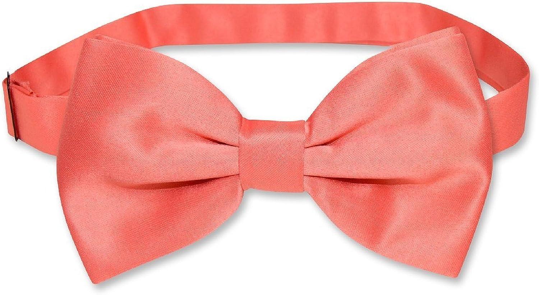 BOYS Dress Vest /& BOW Tie Solid CORAL PINK Color BowTie Set