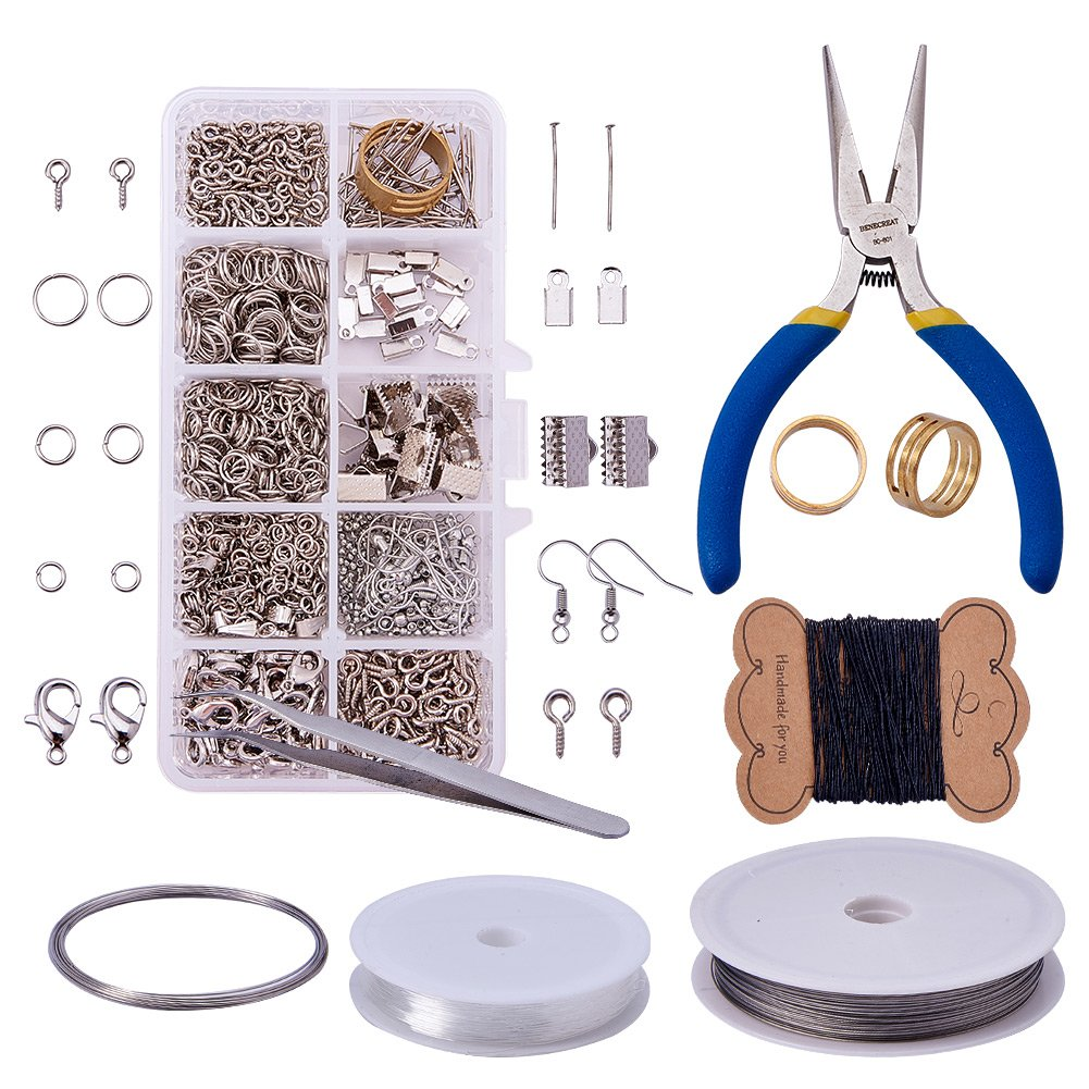 Pandahall Elite Jewelry Making Kit Jewelry Findings Starter Kit Jewelry Beading Making and Repair Tools Kit Jewelry Findings Accessories Pliers Wire Starter Tool,Antique Bronze PH PandaHall wh-DIY-PH0016-01AB