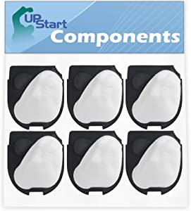 6-Pack DCF-11 Filter Replacement for Eureka 71B-1 Quick Up Vacuum Cleaner - Compatible with Eureka DCF-11 62558A Filter