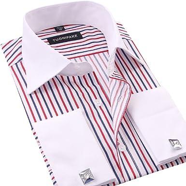 Mens Tuxedo Formal Shirt Men Italian Dress Casual Luxury Shirts Regular Fit