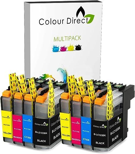 8 XL ColourDirect LC123 / LC121 Cartuchos de Tinta Con Chip Para ...