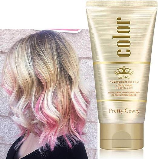 Cera Cabello Temporal, DIY Cera de Tinte Capilar, Hombre Mujer Lavable Cera Color Pelo, Fórmula Botánica Cera de Peinado Natural Mate 4.58 onzas ...