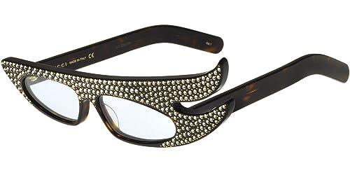 Gucci GG0240S 001, Gafas de Sol para Mujer, Marrón (001-Avana/Light-Bluee), 56