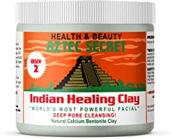 Aztec Secret – Indian Healing Clay 1 lb – Deep Pore Cleansing Facial & Body Mask – The Original 100% Natural Calcium...