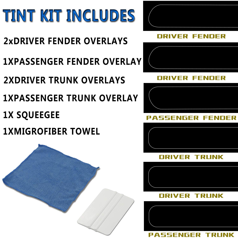 Dark Smoke Vinyl Tail Light Tint Kit for 2015-2019 Dodge Challenger