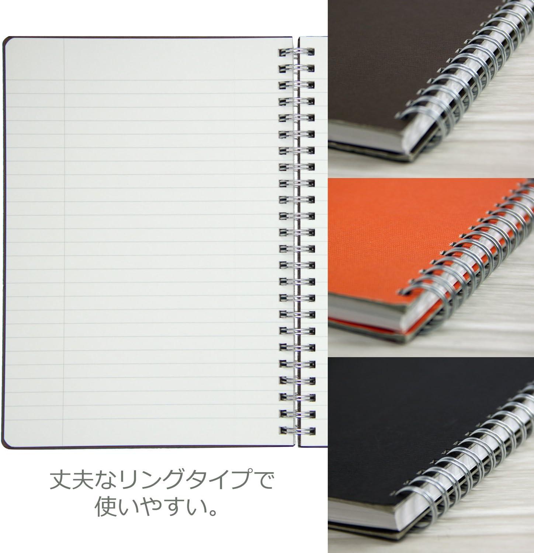 Apika Figurare Twin Ring Note SW113M Orange 6.5 mm ruled paper B5