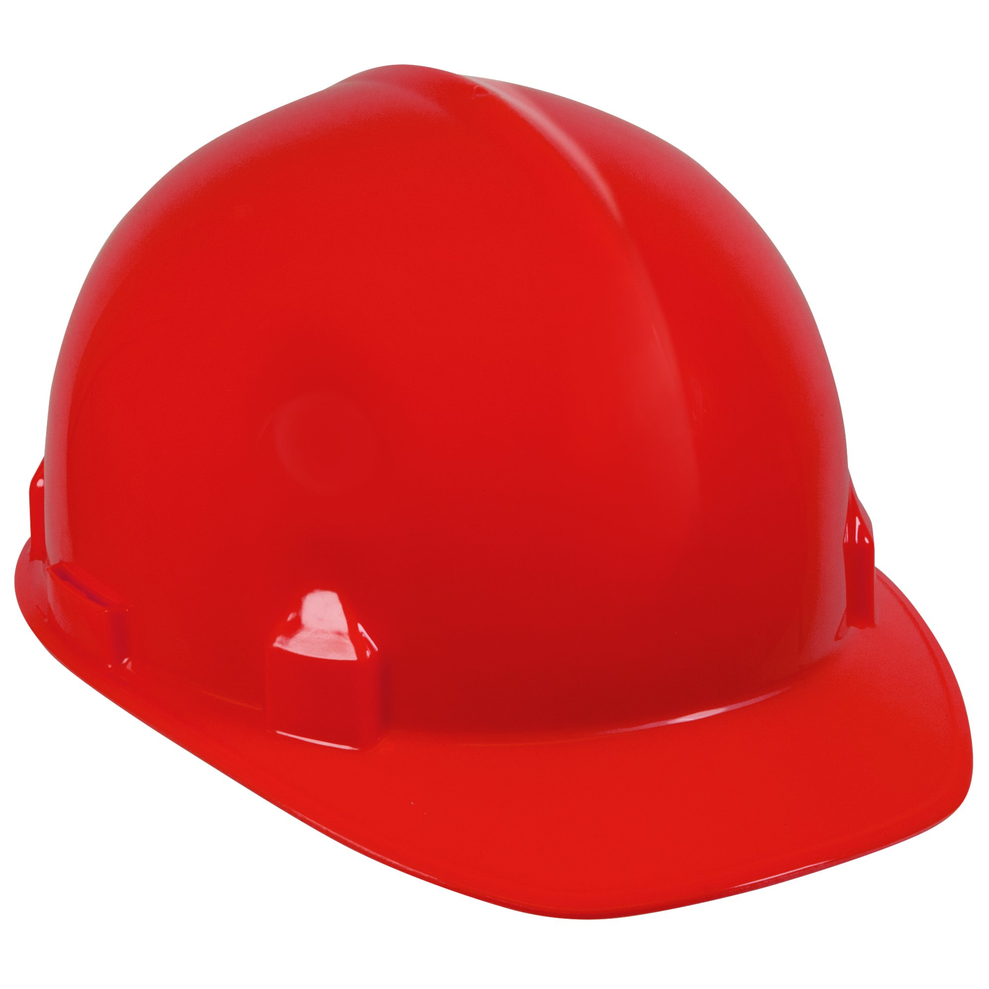 Jackson Safety SC-6 Hard Hat (14841), 4-Point Ratchet Suspension, Smooth Dome, Meets ANSI, Red, 12 / Case
