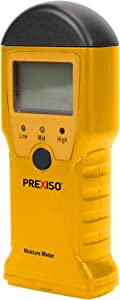 PREXISO Moisture Meter, Stainless Steel Prongs, LCD Screen, Auto Shut-Off, Single-Button Operation, (1 Pack)