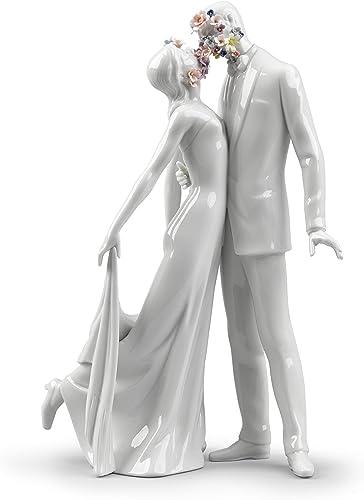 LLADR Love I Couple Figurine. Porcelain Bride and Groom Figure.