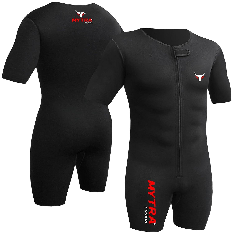 Mytra Fusion Sweat Suit重量損失Sliming Fitnessジム練習トレーニング Medium ブラック B07C4WZFM8