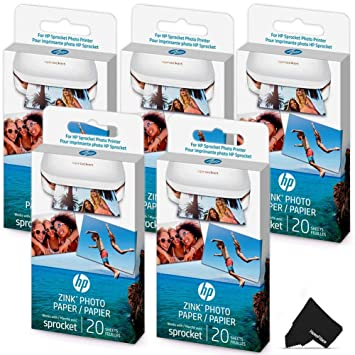 Amazon.com: 20 hojas de papel fotográfico HP Sprocket ...
