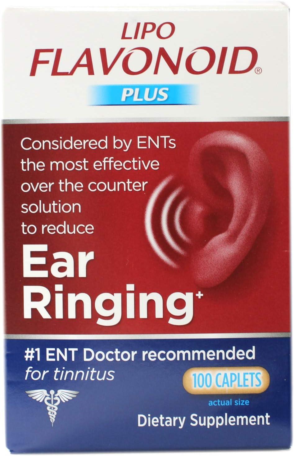 DSE Healthcare Solutions - LipoFlavonoid Plus Extra Strength Unique Ear Health Formula - 100 Caplets: Health & Personal Care