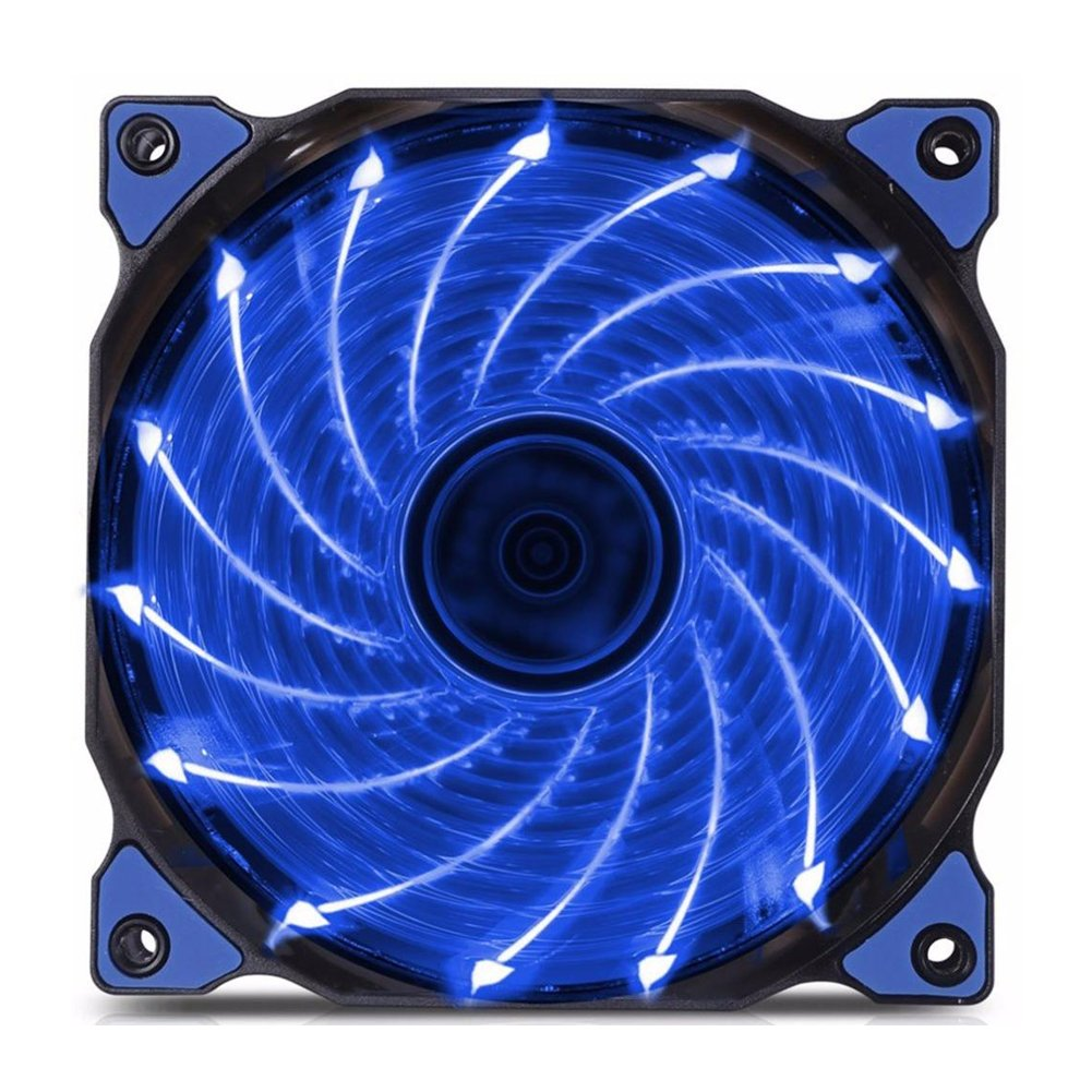 120mm PC Fan PC Case Cooling Fan 150LED Illuminating Super Silent Computer LED Cooler High Airflow CPU Cooling Fan(Blue Light) by INLAR