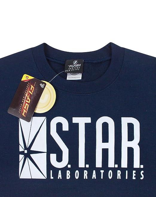 Amazon.com: DC Comics Flash TV Star Laboratories Unisex Sweater: Clothing