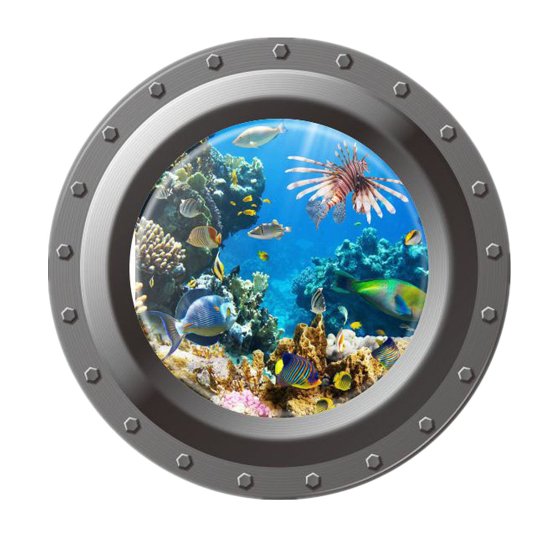 Kess InHouse EBI Emporium The Reef Blue Teal Wall Clock 12
