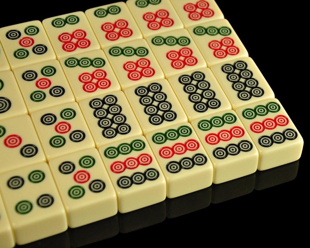 LI JING SHOP - Mahjong / trajes del viaje de la tarjeta de Mahjong, pequeñas piezas amarillas pálidas del juego, mano casera que friega Mahjong, tamaño: 3.8  3.0  2.0CM / 4.0  3.1  2.1CM / 4.2.23.2  2.2CM ( Color : Aluminum box ,