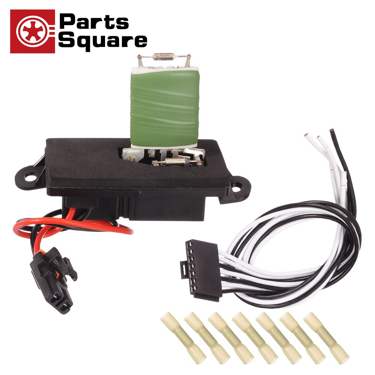PartsSquare Manual HVAC Blower Motor Resistor 15305077 + 15862656 Wire Harness Connector Replacement for 2002 2003 2004 2005 2006 CHEVROLET AVALANCHE 1500 2001 2002 2003 2004 CHEVROLET SILVERADO 1500 by PartsSquare