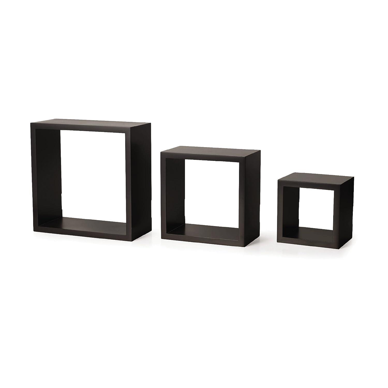Amazon.com: Melannco Square Wood Shelves, Set of 3, Espresso: Home ...