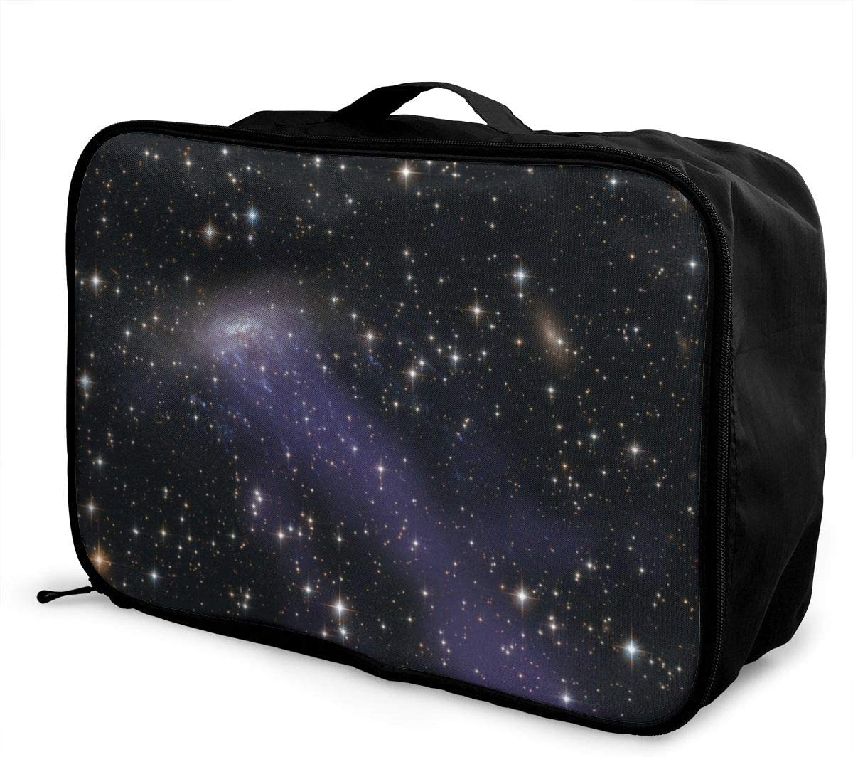Yunshm Galaxy Gas Stream Constellations Stars Hubble Personalized Trolley Handbag Waterproof Unisex Large Capacity For Business Travel Storage