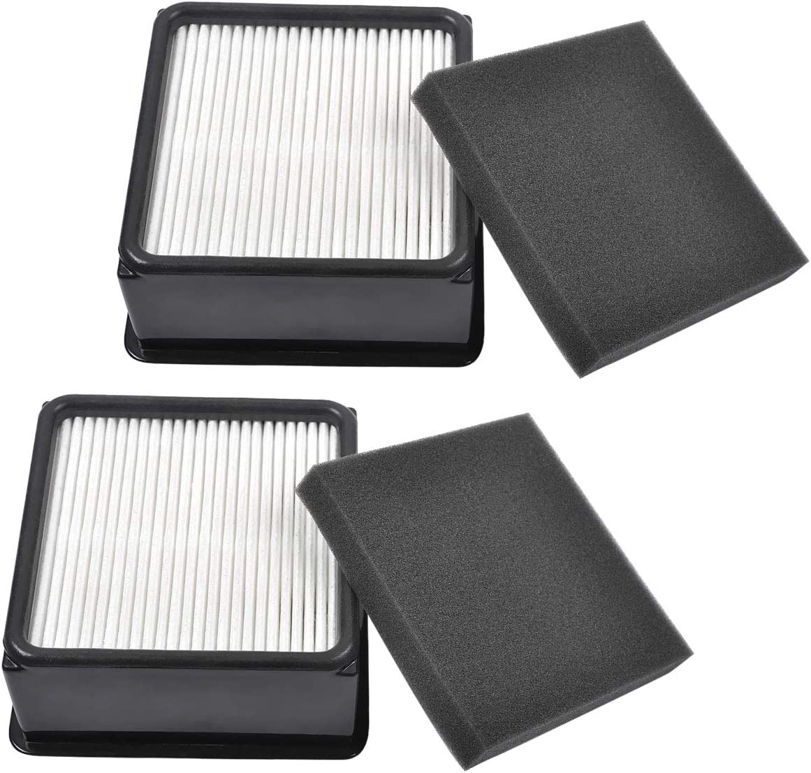 KEEPOW 2 Set F66 HEPA and Foam Filter for Dirt Devil UD70105 Uprights Vacuum, Part# 304708001