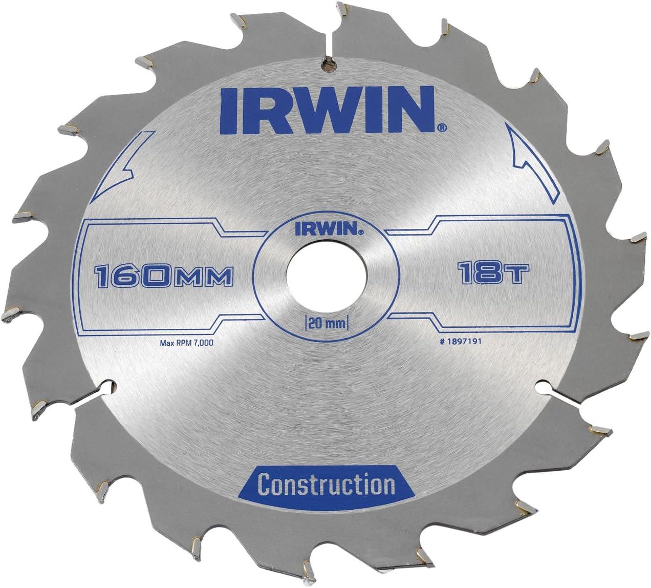 IRWIN Lame de scie circulaire 160 x 20 mm x 18 t ATB IRW1897191