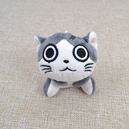 JEWH Kawaii Grey Sitting CAT Plush Stuffed Toys , Bouquet Gift Soft Plush Cat Doll ,