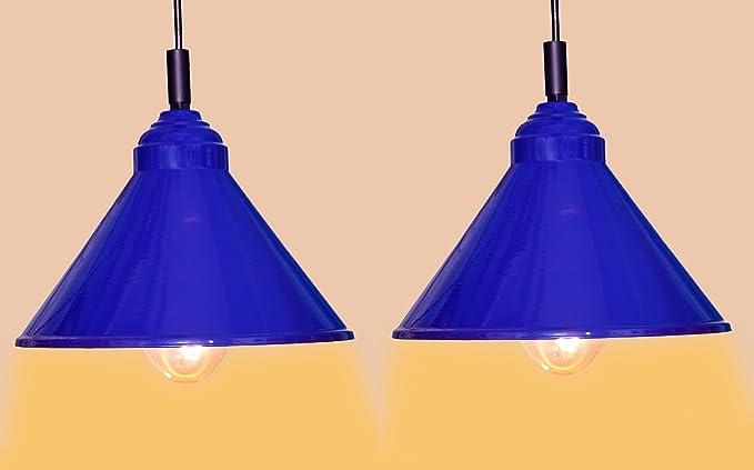 Design Villa Modern Blue Iron Hanging Light Hanging Lamps Ceiling Lights Ceiling Lamp Pendant Lamp Pendant Light For Ceiling Ideal For