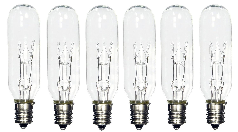 Pack Of 6 15t6 15 Watt Tubular Light Bulb Candelabra E12 Base Clear Bulb Ebay