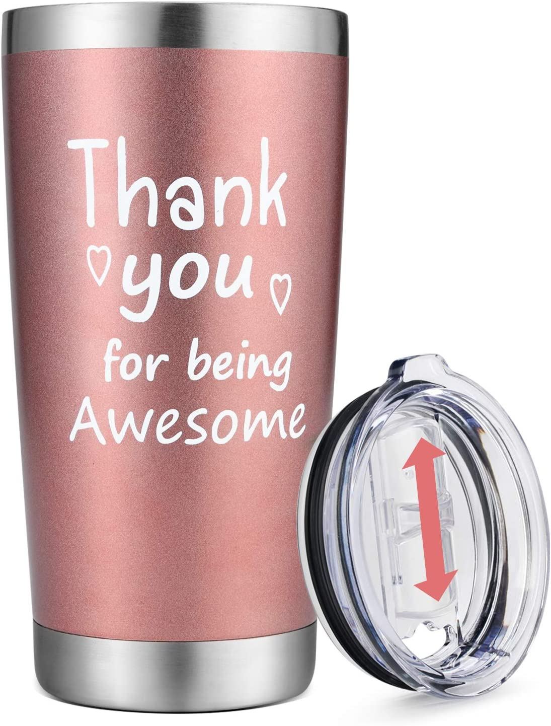 HULASO Thank You Gifts for Women - Christmas Thanksgiving Gifts, Appreciation Gifts Wine Tumbler- Gift Idea for Him, Her, Mom, Wife, Boss, Sister, Best Friend - Birthday Gifts for Coworker -20 oz Cup
