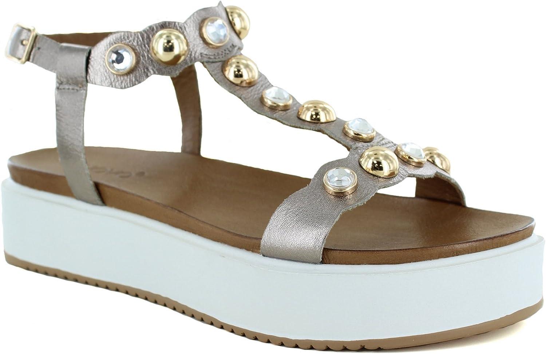 Inuovo - Defne Platform Sandal, Pewter